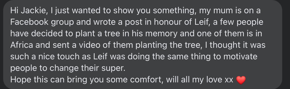 African Tree Planting tribute